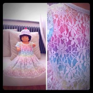 1989 Place Dress Rainbow Lace Twirl Skirt 12-18M